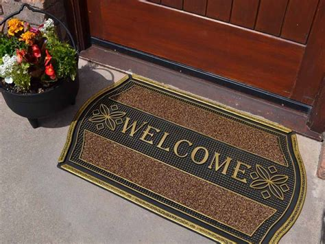 Cheap Door Mats Strong Indoor Outdoor Welcome Entrance Front Door Mat