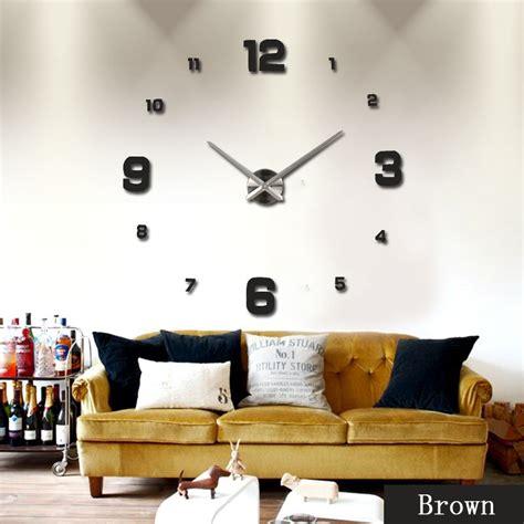 Jam Dinding Acrylic Mirror Big Number diy wall clock 80 130cm diameter elet00660 jam dinding black jakartanotebook