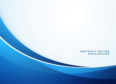 abstract blue wavy business style background