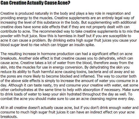 creatine acne acne creatine can creatine actually cause acne liamcoe10