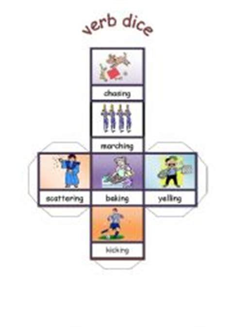 Printable Verb Dice | english worksheet verb dice