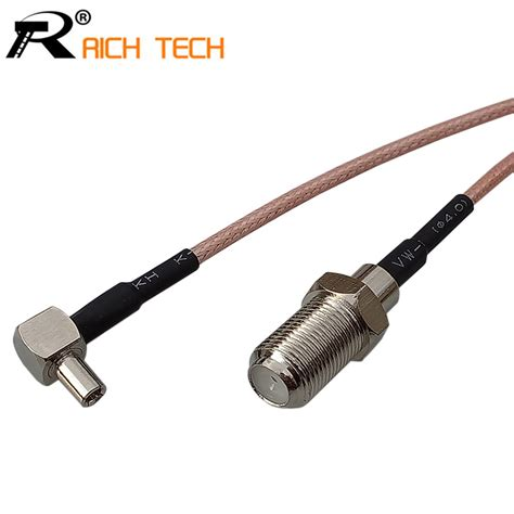 Ts9 Conector Modem customize coaxial rf cable 3g modem cable ts9 right angle switch f type pigtail cable