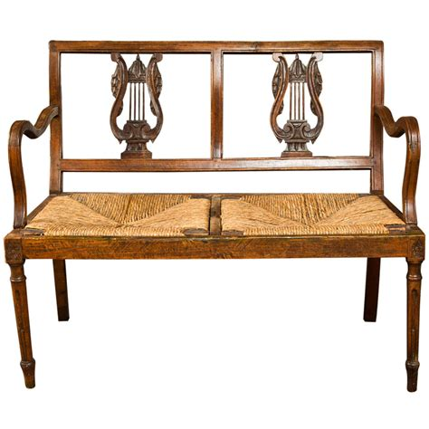 walnut bench carved walnut bench late 19th century italy for sale at