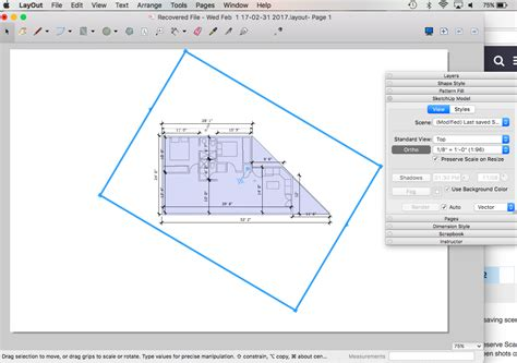 sketchup layout resize viewport scaling layouts w osx doesn t scale or move properly