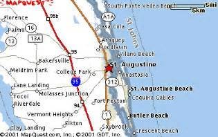 map of florida showing st augustine st augustine fl maps