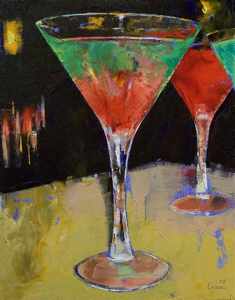 martini painting watermelon martini painting by michael creese