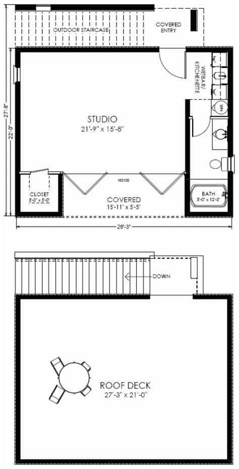 studio house plans studio plan modern casita house plan one bedroom studio