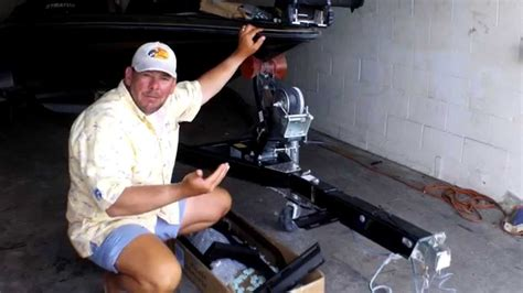 boat trailer bow assist guides how to install the easy step system on bass boat trailer