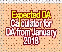 da from january 2018 for central government employees