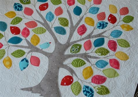 free applique tree quilt pattern on tree quilt mini quilt