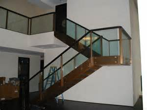 Glass Stair Banisters by Glass Stair Railing With Tinted Glass Glass Stairs