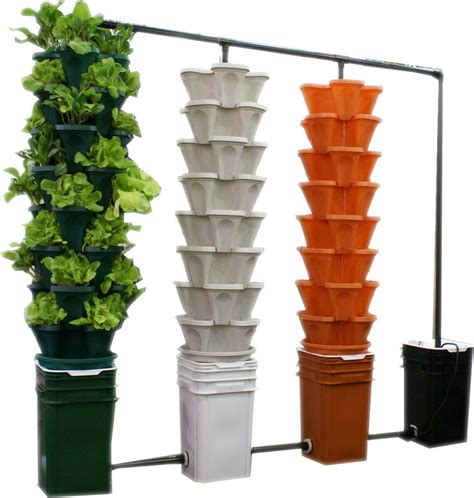 Hydroponic Planters by Large 5 Tier Vertical Garden Tower 5 Black