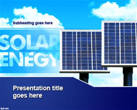 solar energy powerpoint template