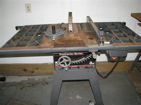 Belt Drive Table Saw by Craftsman Contractor Series Table Saw 3 Hp 10 Belt Drive