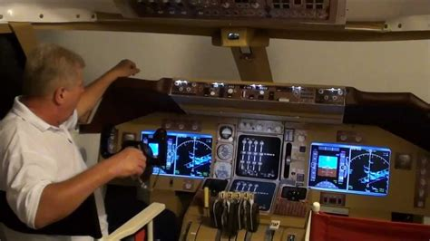 Make Your Own Blueprint home cockpit boeing 747 400 youtube
