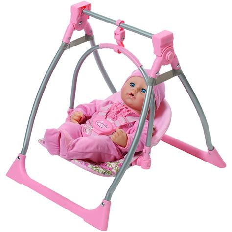 toy baby doll swing baby annabell 3 in 1 highchair swing and comfort seat