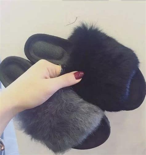 Summer Flat Fur Mules aliexpress buy autumn winter summer sandals