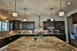 River bordeaux granite counter tops traditional kitchen