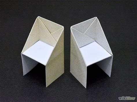 origami tutorial wikihow make an origami chair origami craft and origami paper