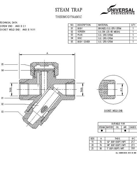 steam trap diagram universal valve