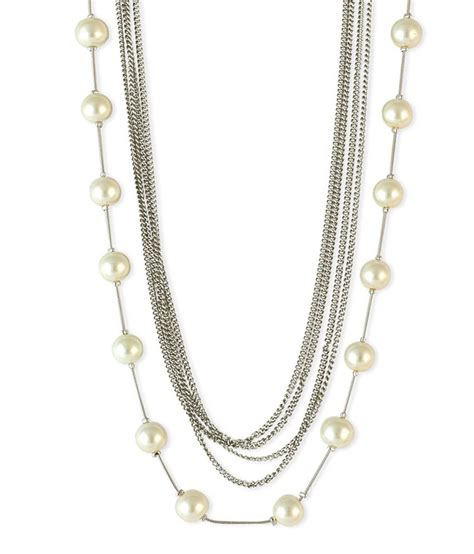 Pearl White Color Necklace pearl beaded white color necklace buy pearl beaded white color necklace at