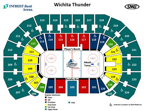 Basketball Arena Floor Plan Seating Charts Events Amp Tickets Intrust Bank Arena