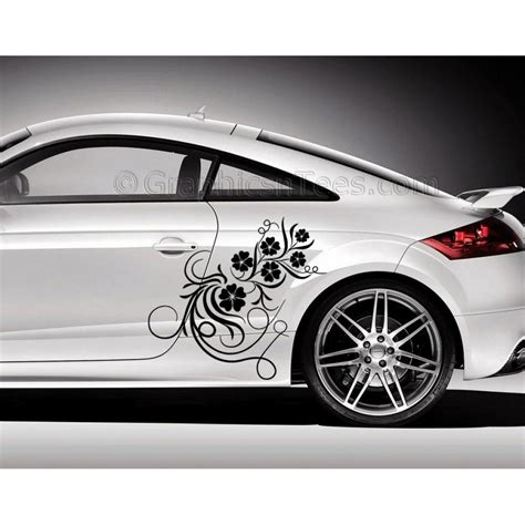 Car A Sticker by Audi Tt Car Sticker Side Decal Flower Car Sticker Girly