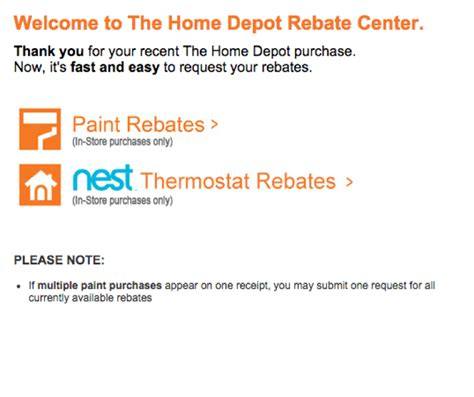 www homedepotrebates how to submit a rebate at home