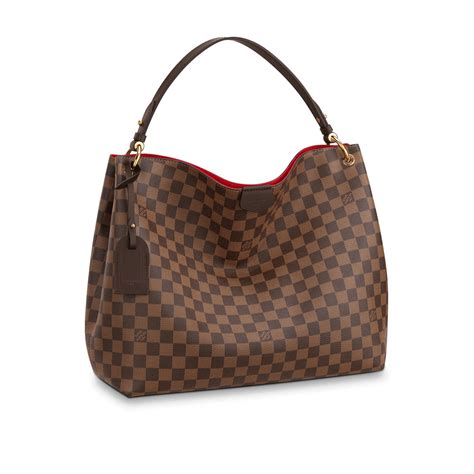 Louis Viton designer handbag in damier canvas graceful mm louis