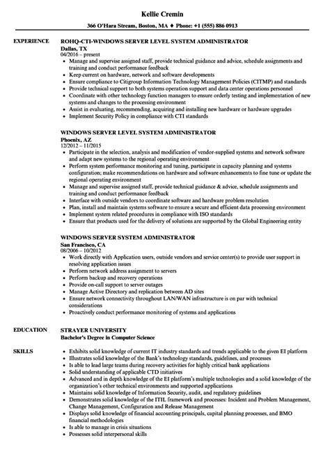server administrator resume format server system administrator resume sles velvet