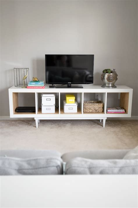 ikea tv stand hack ikea hack shelving unit to tv stand infarrantly creative