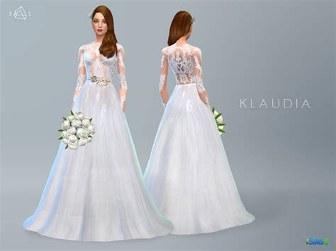 Wedding Dress The Sims 4 by Lace Wedding Dress Klaudia By Starlord At Tsr Via Sims 4