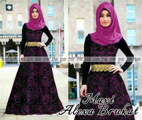 Pakaian Atasan Muslim Wanita Dress Boxy Combi Sweater Premium baju kombinasi brukat newhairstylesformen2014