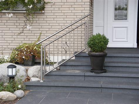 treppengeländer edelstahl aussentreppe brungs metallgestaltung treppengel 228 nder