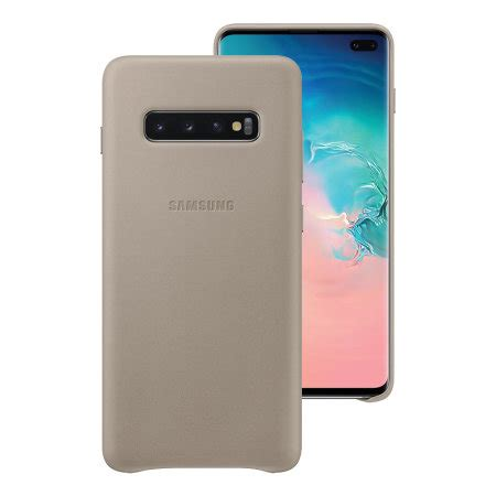 Samsung Galaxy S10 Leather by Official Samsung Galaxy S10 Plus Leather Cover Grey