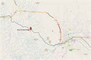 file map showing royal gorge bridge and local surrounding