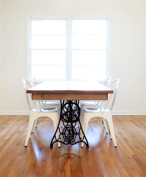 Craigslist Dining Room Furniture our diy dining table from an old sewing machine all