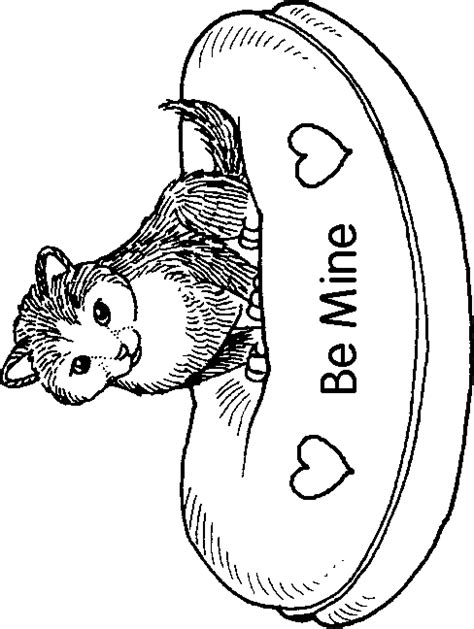 kitten valentine coloring page valentines day coloring pages cat valentine coloring