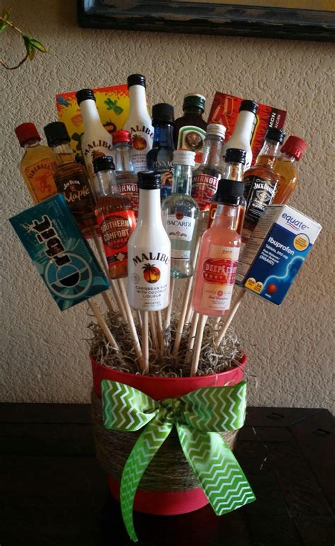 liquor bouquet for white elephant gift you can t go wrong
