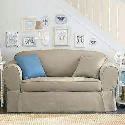 loveseat linen piped twill 2 sofa slipcover