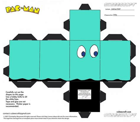 Ghost Papercraft - pacman paper pacman ghost paper pac