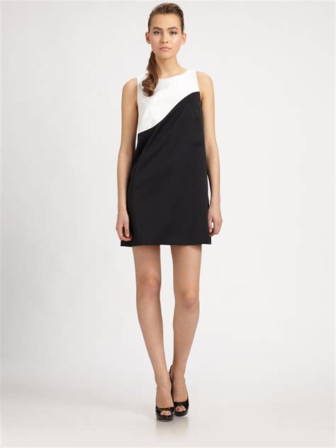 Black Arine Dress paule ka colorblock aline dress in black lyst