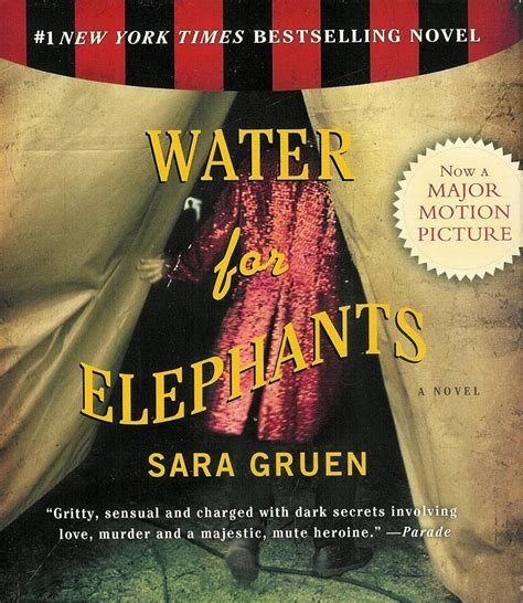 water for elephants a novel water for elephants by gruen 10 cds unabridged audio