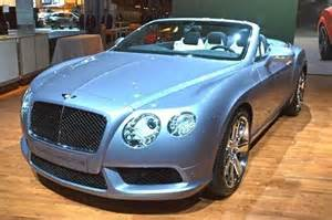Bentley Convertible Blue 2013 Bentley Continental Convertible 2012 New York Auto