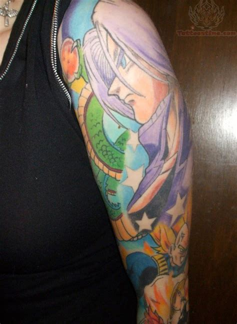 anime sleeve tattoo 52 best anime tattoos