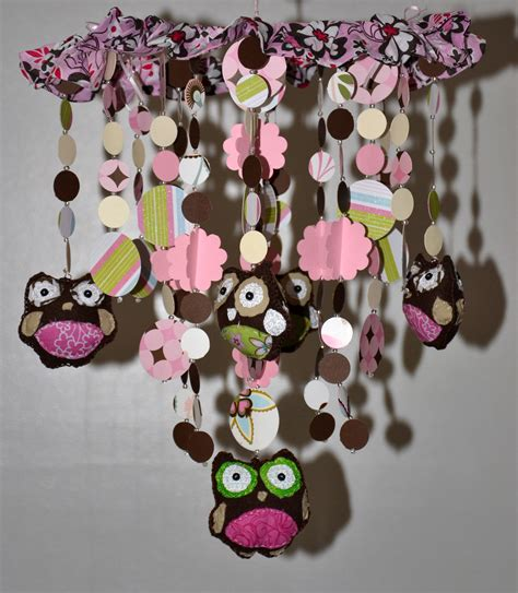 Too Hoot For Owls Crib Mobile Pink Brown Nursery Decor Pink And Brown Nursery Decor