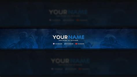 Free Youtube Banner Template Business Gaming Banner Template Psd