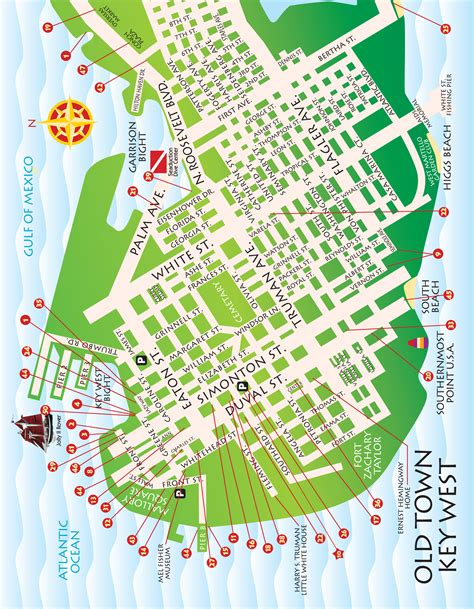 printable map key west key west islands map