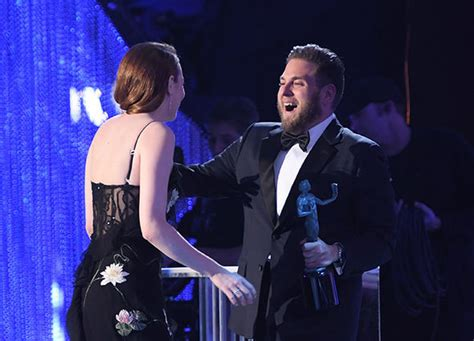 emma stone jonah hill superbad reunion emma stone and jonah hill together at
