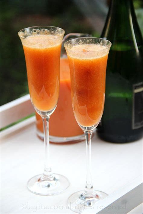 Peach Bellini Recipe Dishmaps